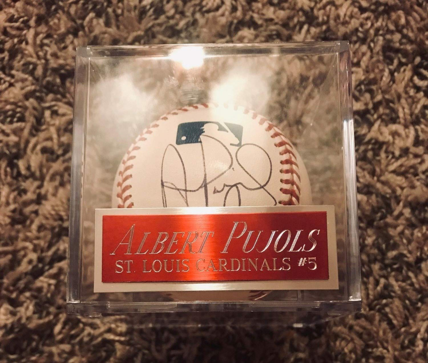 Autographed Albert Pujols Baseball Autographed Signed With Ml Baseball JSA Certified