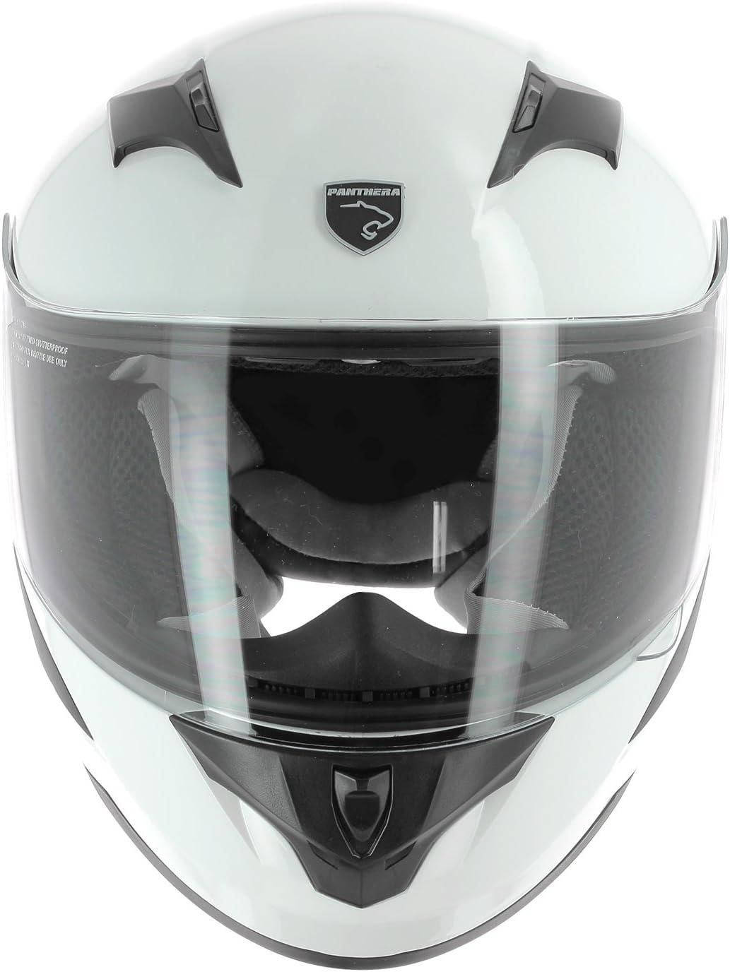 Taille S Blanc PANTHERA Casque Moto Int/égral Enfant Rooky
