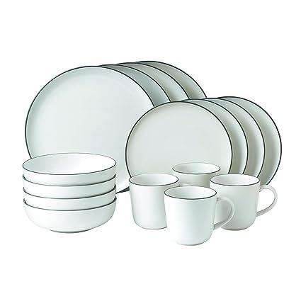Amazon.com | Gordon Ramsay 16-Piece Bread Street Dinnerware Set ...