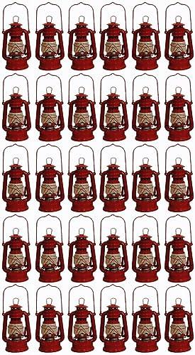 Shop4Omni Red Hurricane Kerosene Oil Lantern Emergency Hanging Light Lamp – 8 Inches