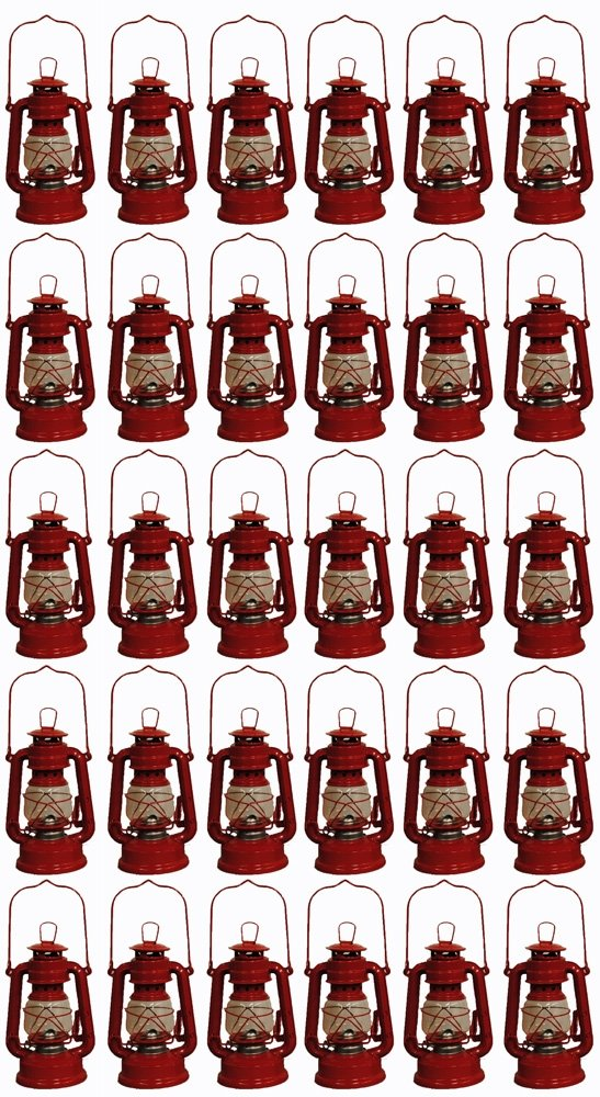 Shop4Omni Red Hurricane Kerosene Oil Lantern Emergency Hanging Light Lamp – 8 Inches