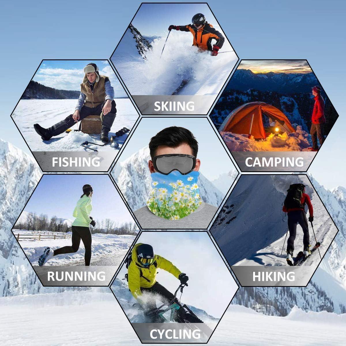 Unisex Winter Neck Gaiter Warmer Magic Scarf for Skiing Running Cycling Bingo Dots Purple