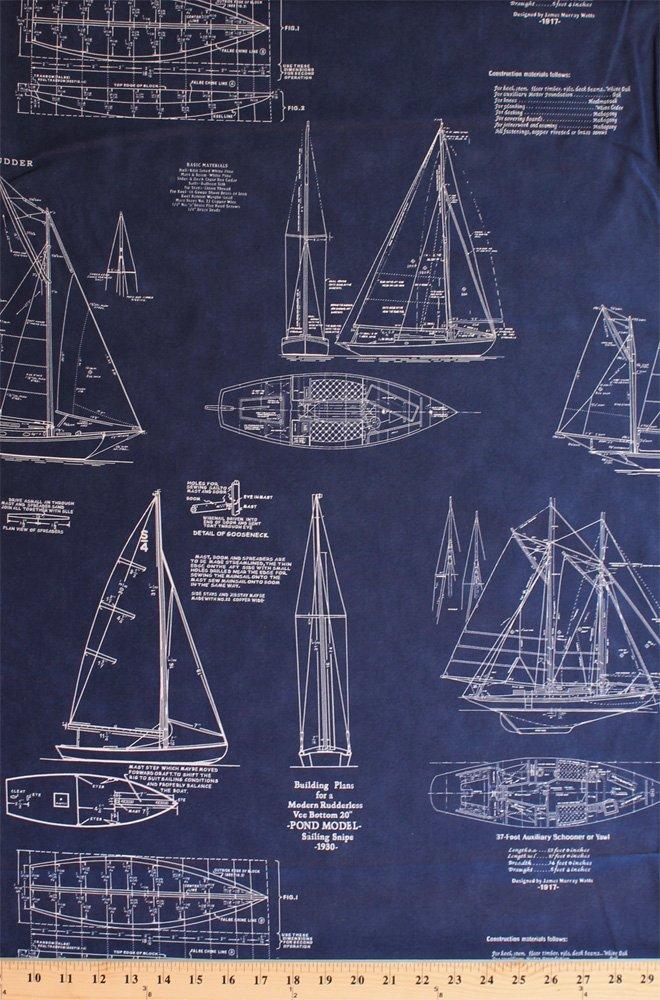 cotton sailboats tall ships boats schooners building plans instructions  models blueprints diagrams snipe 1930 sailing sailors nautical blue vintage  passport