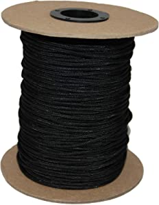 T.W Evans Cordage 70-101BK Crosslace Lacrosse String Spool, 300-Feet, Black