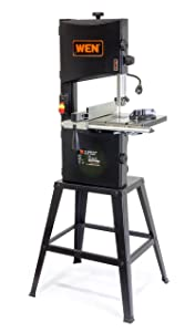 WEN 3962 Two-Speed Band Saw with Stand and Worklight 10 Inch