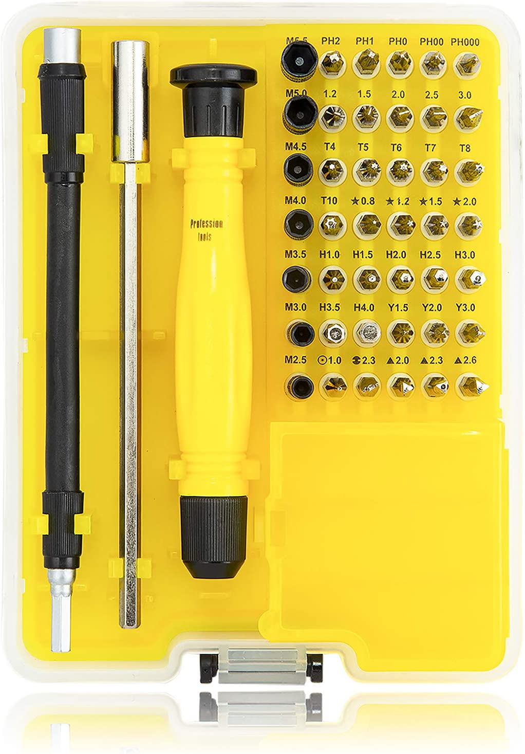 46 in 1 Precision Screwdriver Set Rdeer Magnetic Driver Kit With Sucker Crowbar Triangle Plectrums Component Box Extension Bar And Flexible Shaft For Mobile Phone//Smartphone//Game Console//Tablet//PC