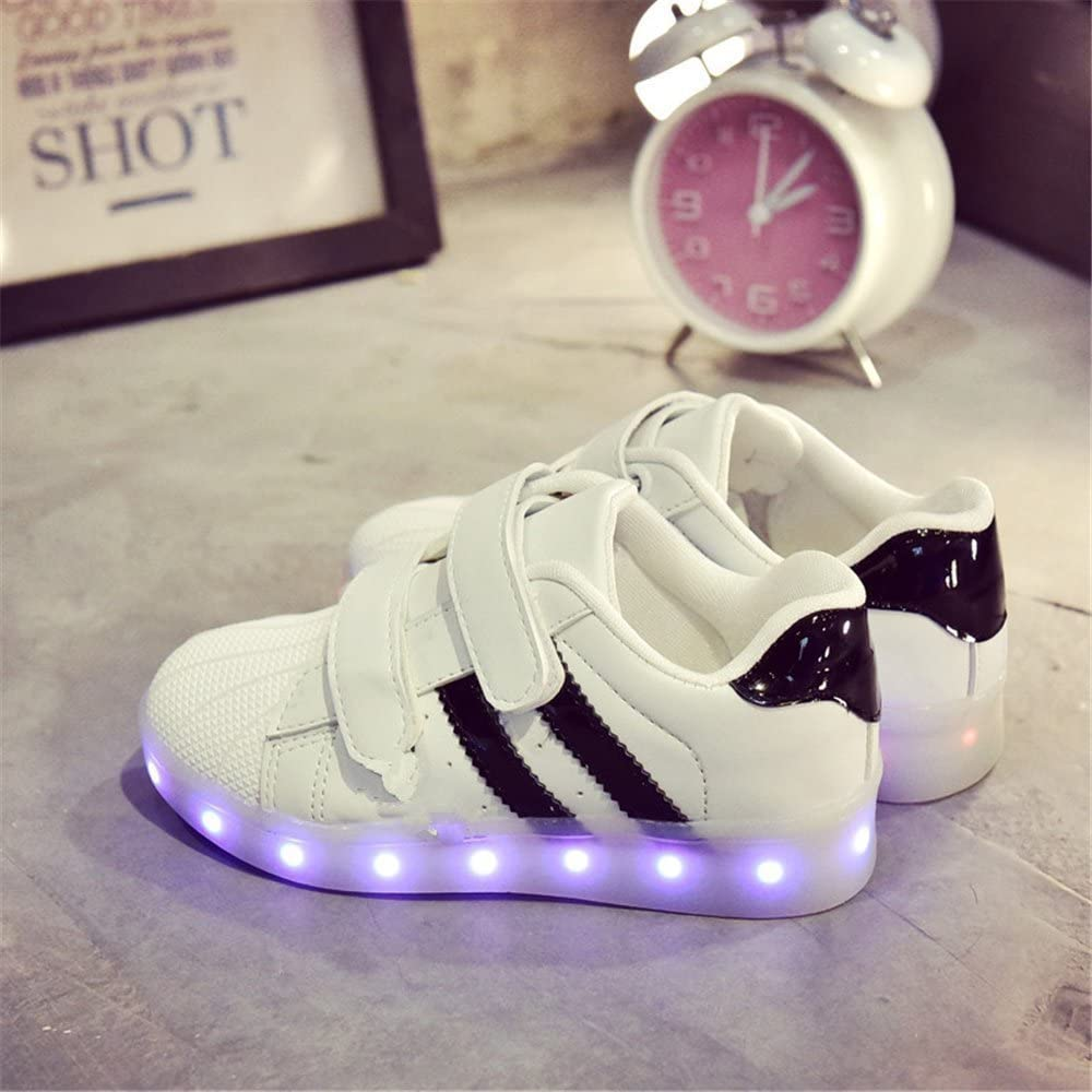 Believed Boys Girls Kids LED Light Up Luminous Shoes USB Charge Casual Sneakers