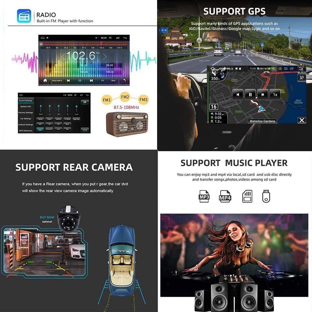 Quad Core Multim/édia//Bluetooth Commande au Volant//Main Gratuit Appel//Miroir Lien WXXSL Car Stereo GPS Sat Nav Android 8.1 9 Pouces pour Chrysler Aspen 300C FM AM Soutien 2004-2008