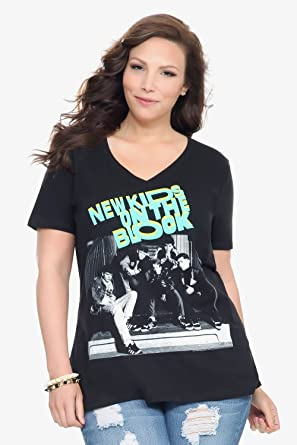 d7ee192a Amazon.com: New Kids On The Block V-Neck Tee: Clothing