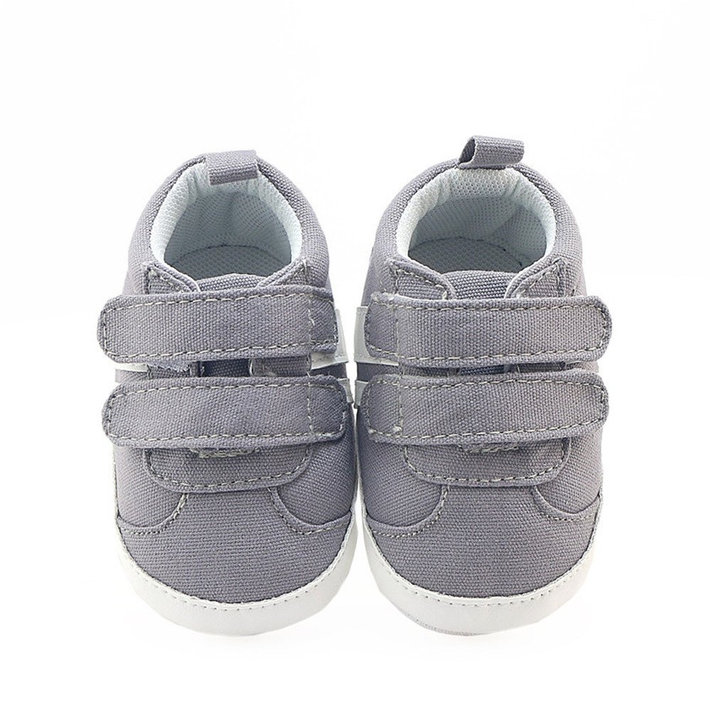 Isbasic Canvas Sneakers Shoes for Baby Boys Girls Toddler Non-Slip Rubber Sole Casual Infant Trainer (6-12 Months, Gray) by Isbasic (Image #6)