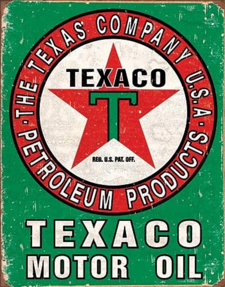 Mobil /& Texaco Tanker Metal Sign