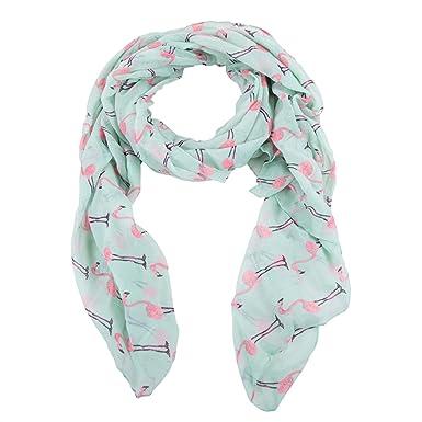 Mim - Foulard flamant rose - Femme - TU - VERT  Amazon.fr  Vêtements ... f35805f7969