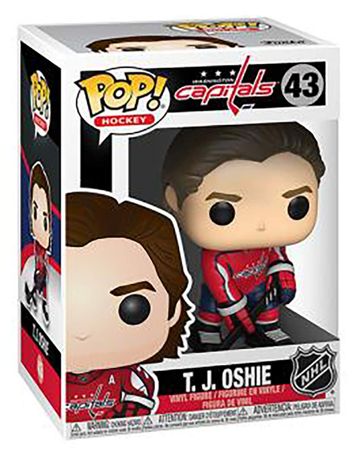 POP Sports NHL Washington Capitals TJ Oshie Action Figure Bundled with Pop Box Protector to Protect Display Box