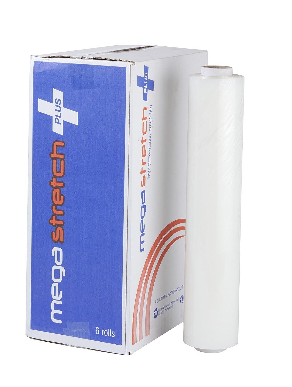 Swiftpak Megastretch Plus 400/mm x 300/m trasparente a filo Core confezione da 6