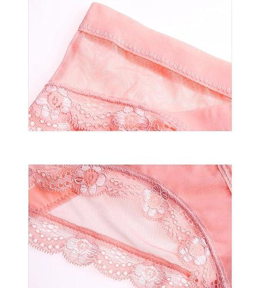 c289fdd60278 POKWAI Women's Organic Cotton Basic Panties Underwear 4 Pack Sexy Lace Low  Waist,A11-L: Amazon.co.uk: Clothing