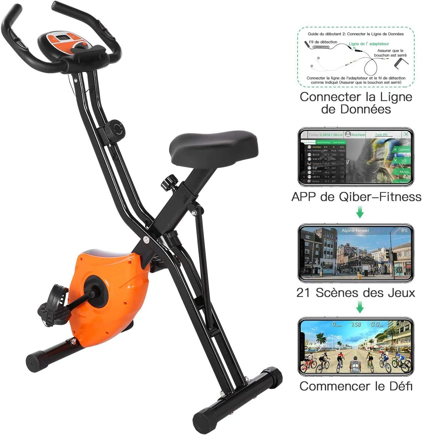 Profun - Bicicleta estática plegable para bicicleta de ejercicio ...