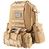 Z ZTDM 25L/50L Outdoor Tactical Molle Backpack Military Rucksacks 3-Day Assault Pack for Camping Hiking Trekking Waterproof for KIDS or TEENAGERS