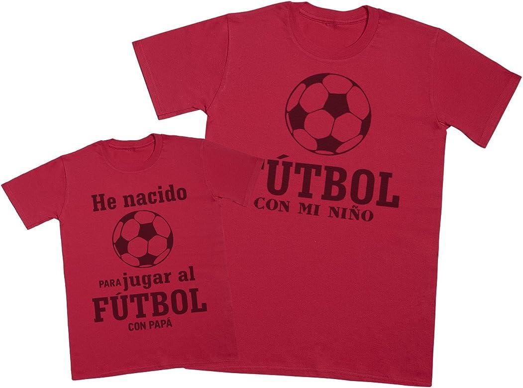 Zarlivia Clothing Fútbol con Papá- Regalo para Padres e Hijos - Camiseta de niño y Camiseta de Hombre - Azul - Small & 11-12 años: Amazon.es: Ropa y accesorios