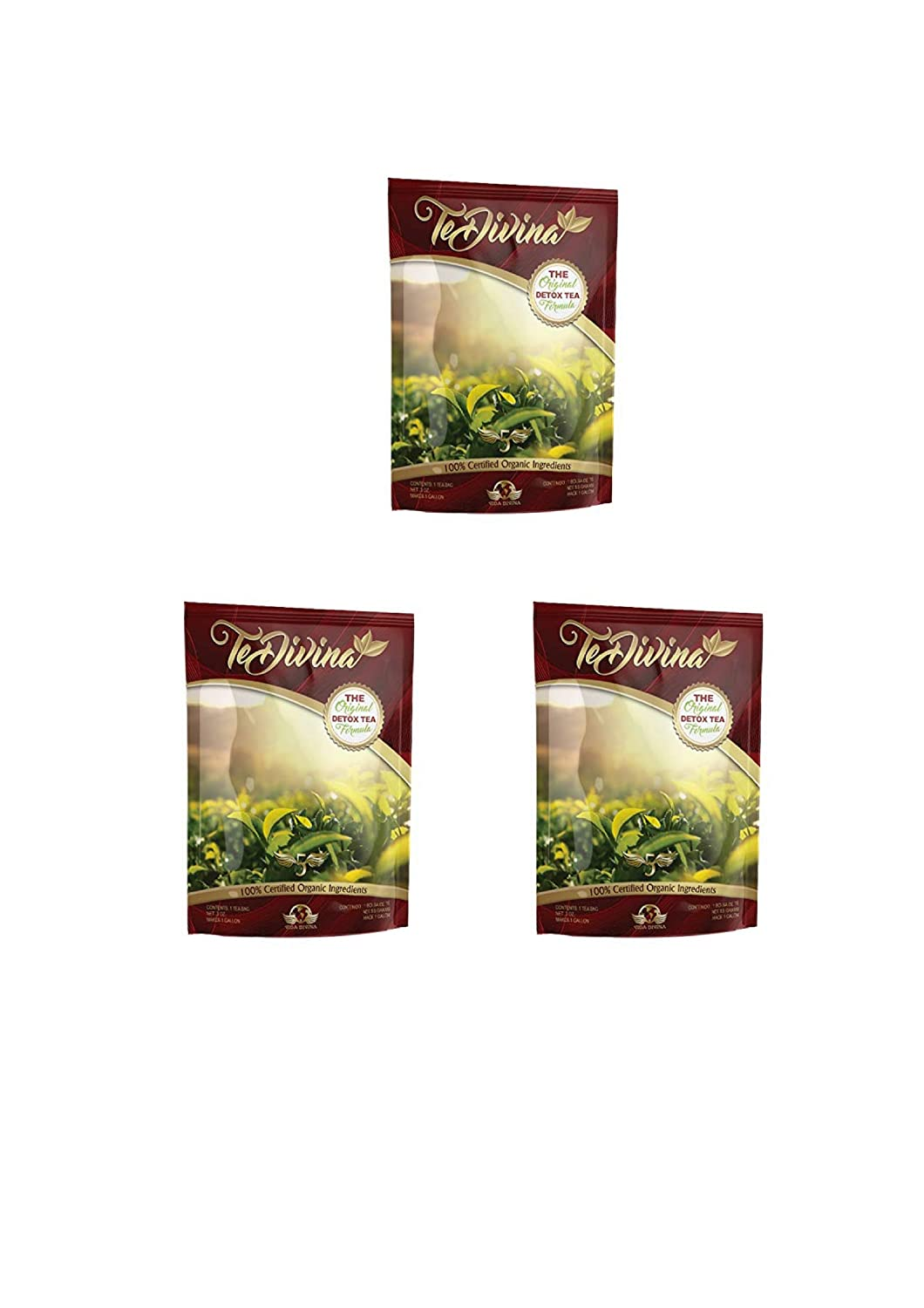 Amazon.com : Te Divina Original Detox Formula for 7 days (3 pack) : Grocery & Gourmet Food