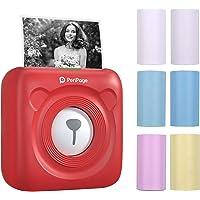 Aibecy mini impresora para movil,PeriPage Mini Pocket Wireless BT Impresora térmica Imagen Foto Etiqueta Nota Impresora…