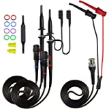 Goupchn P2100 Oscilloscope Clip Probes 100Mhz with BNC to Minigrabber Test Lead Kit X1 X10 Safety Fully Insulated BNC…