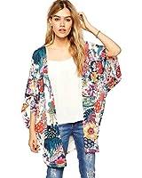Sunward Flower Chiffon Shawl Kimono Cardigan Coats Jackets Cover up Blouse Tops