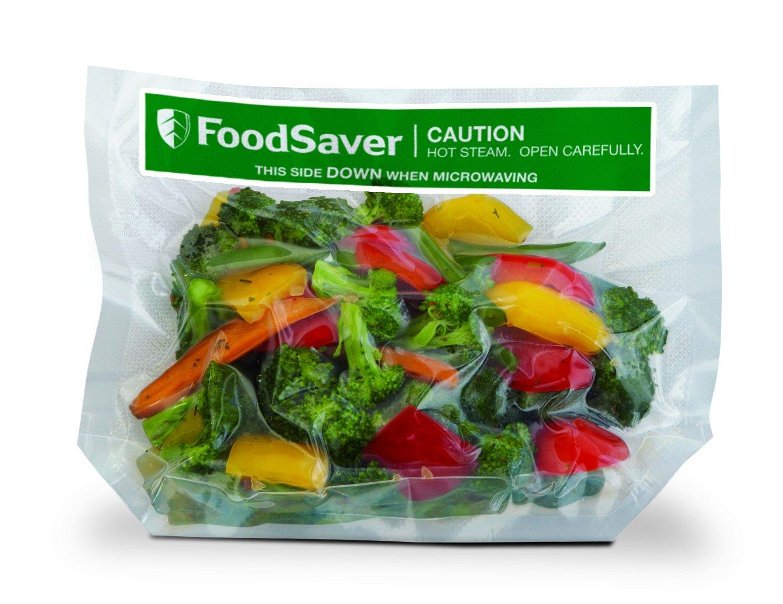 FoodSaver 16 Sacchetti Termosigillabili per Sigillatrice per Sottovuoto Adatti alla Cottura a Microonde, 21 x 24 cm FVB002X 5 volte più a lungo BPA free alimenti