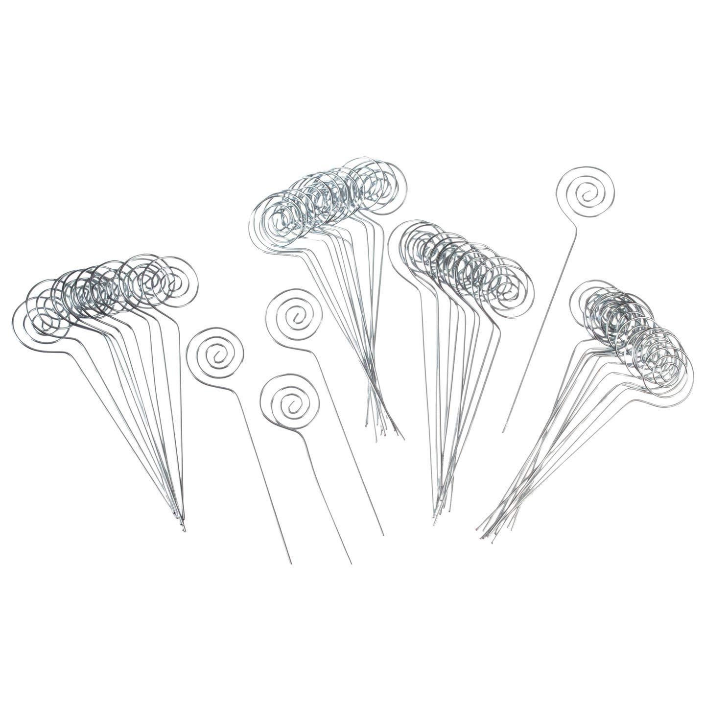 Darice Bulk Buy DIY Victoria Lynn Card Holder Circle Pick Silver 6 inches 48 Pieces (3-Pack VL12165B