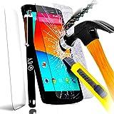 PACK A&D® FILM PROTECTION Ecran en VERRE Trempé pour WIKO RAINBOW UP 4G filtre protecteur d'écran INVISIBLE & INRAYABLE vitre INCASSABLE pour Smartphone noir blanc bleu orange bleen & corail (+ STYLET NOIR)