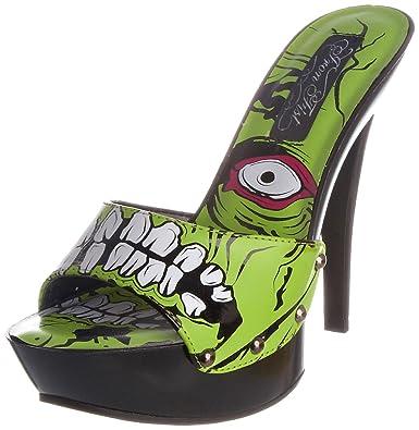 Iron Fist Zombie Stomper Heel, Damen Pumps Grün grün