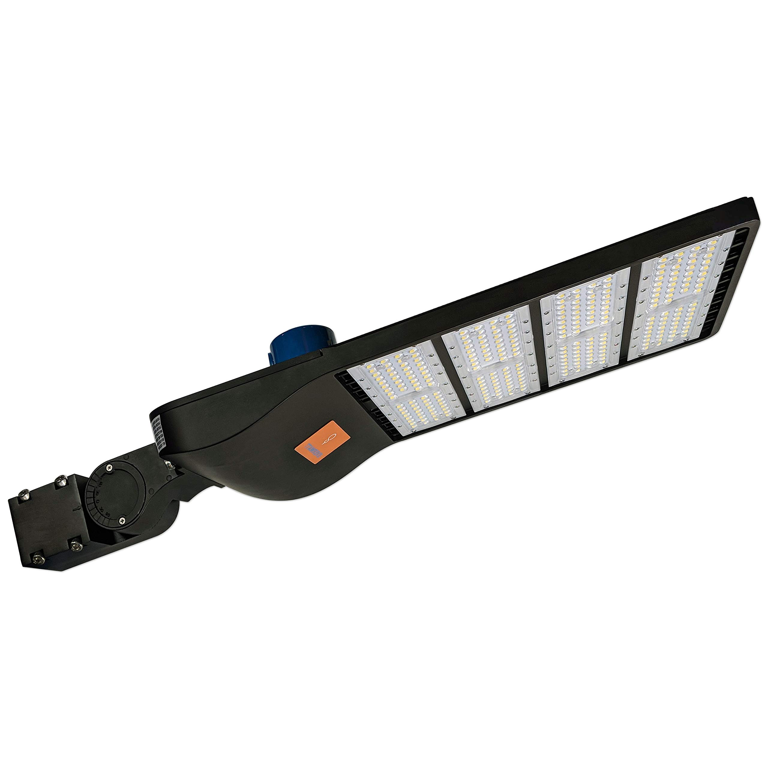 EverWatt 1000W Metal-Halide Equivalent Replacement, 300W LED Outdoor Parking Lot Light with Photocell Sensor (Shoe Box Pole Lights), 5000K, 41000 Lm, Waterproof, Slip Fit Mount, Surge Protector