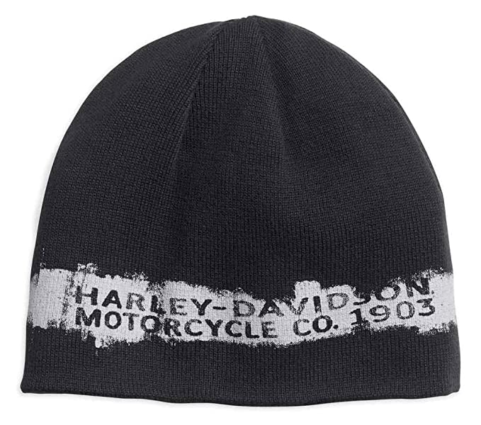 356b1af8f Image Unavailable. Image not available for. Color  Harley-Davidson Men s  Reversible Textured Stripe Knit Beanie ...