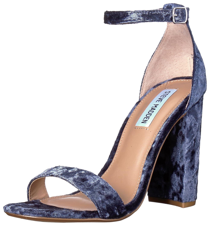 Steve Madden Carrson, Zapatos de Tacón con Punta Abierta para Mujer 41|Blue