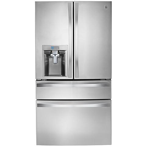 Kenmore Elite 72483 29.9 Cu. Ft. 4 Door Bottom Freezer Refrigerator With  Dispenser In