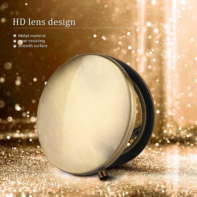 Amazon.com: Espejo de maquillaje plegable con lupa, espejo ...