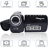 "Digital Video Camcorder, Heegomn FHD 1080P 1920x1080 Video Camera 2.0"" LCD 12MP Digital Video Recorder with 270 Degree Rotation Screen, Black"