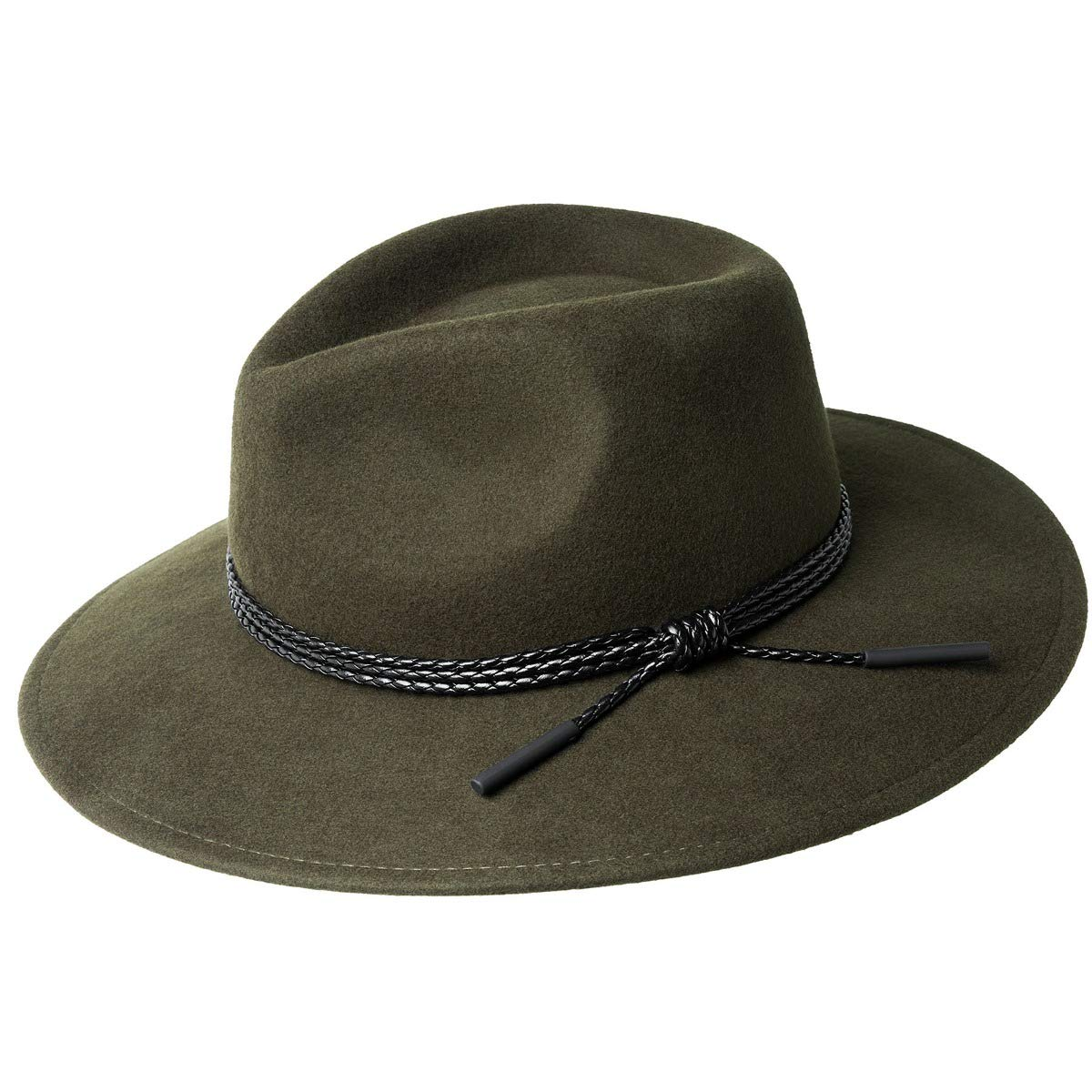 c814746ef19571 Bailey of Hollywood Men's Piston Wide Brim Fedora Trilby Hat at Amazon Men's  Clothing store: