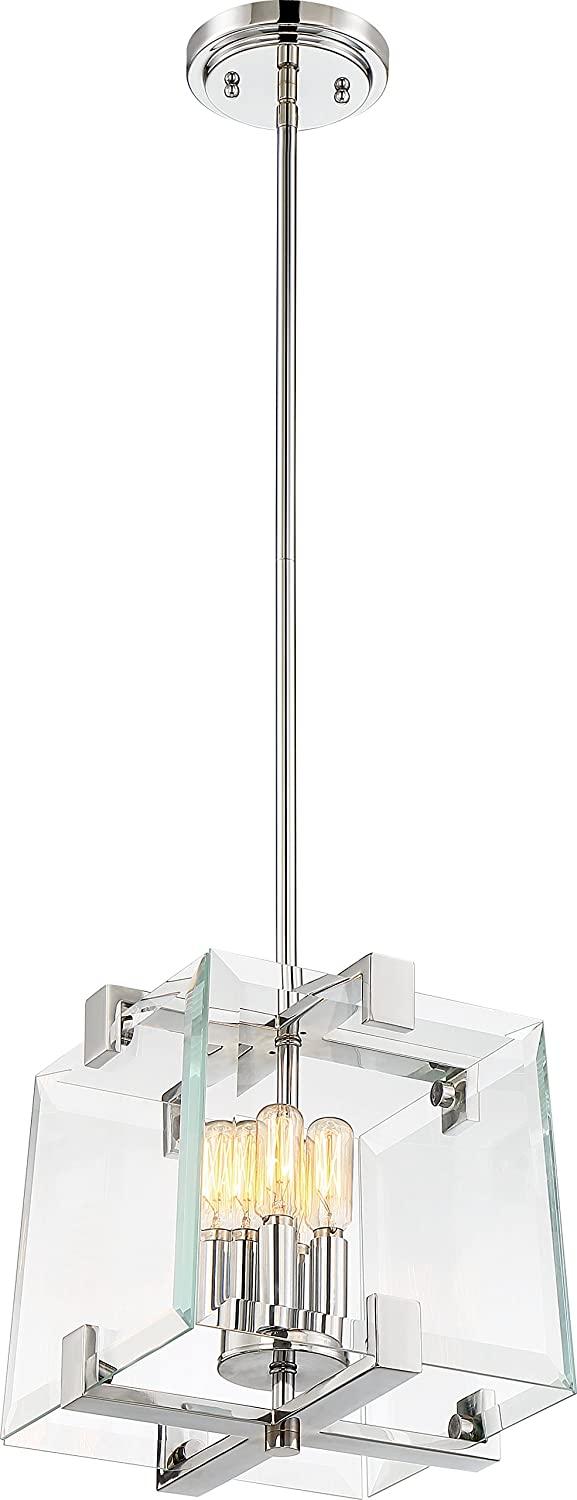 Nuvo 60 6293 One Light Polished Max 61% OFF 4 Cube Max 79% OFF Pendant Nickel