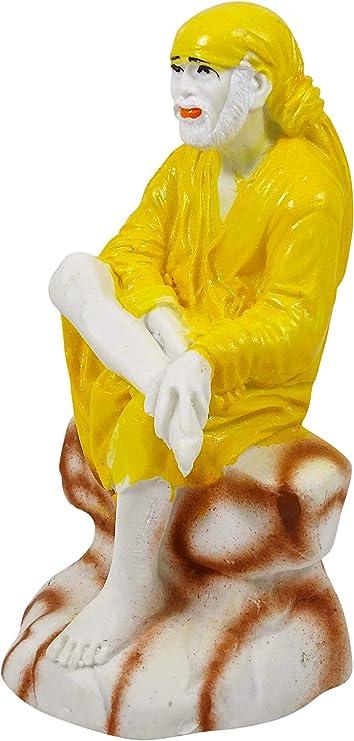 IBA Indienbeautifulart Statue d/écorative en polyr/ésine Motif Seigneur Sai Baba