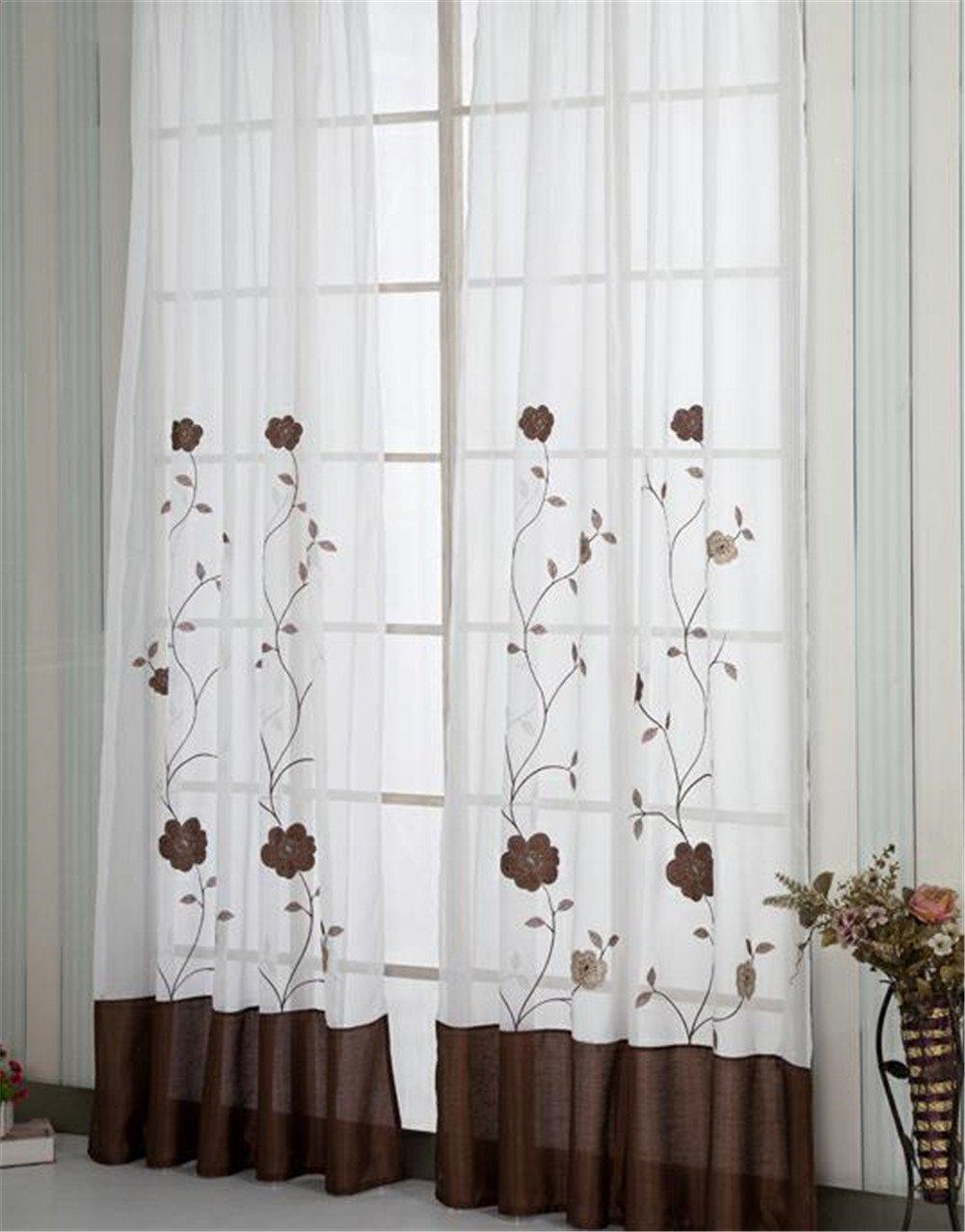 Oesenvorhang Transparent Gardinen Vorhang Schlaufenschal Schlaufenschal Schlaufenschal Deko fuer Wohnzimmer BH 140245 CM Lila B073WWQ13X Fensterdekoration d3e6c1