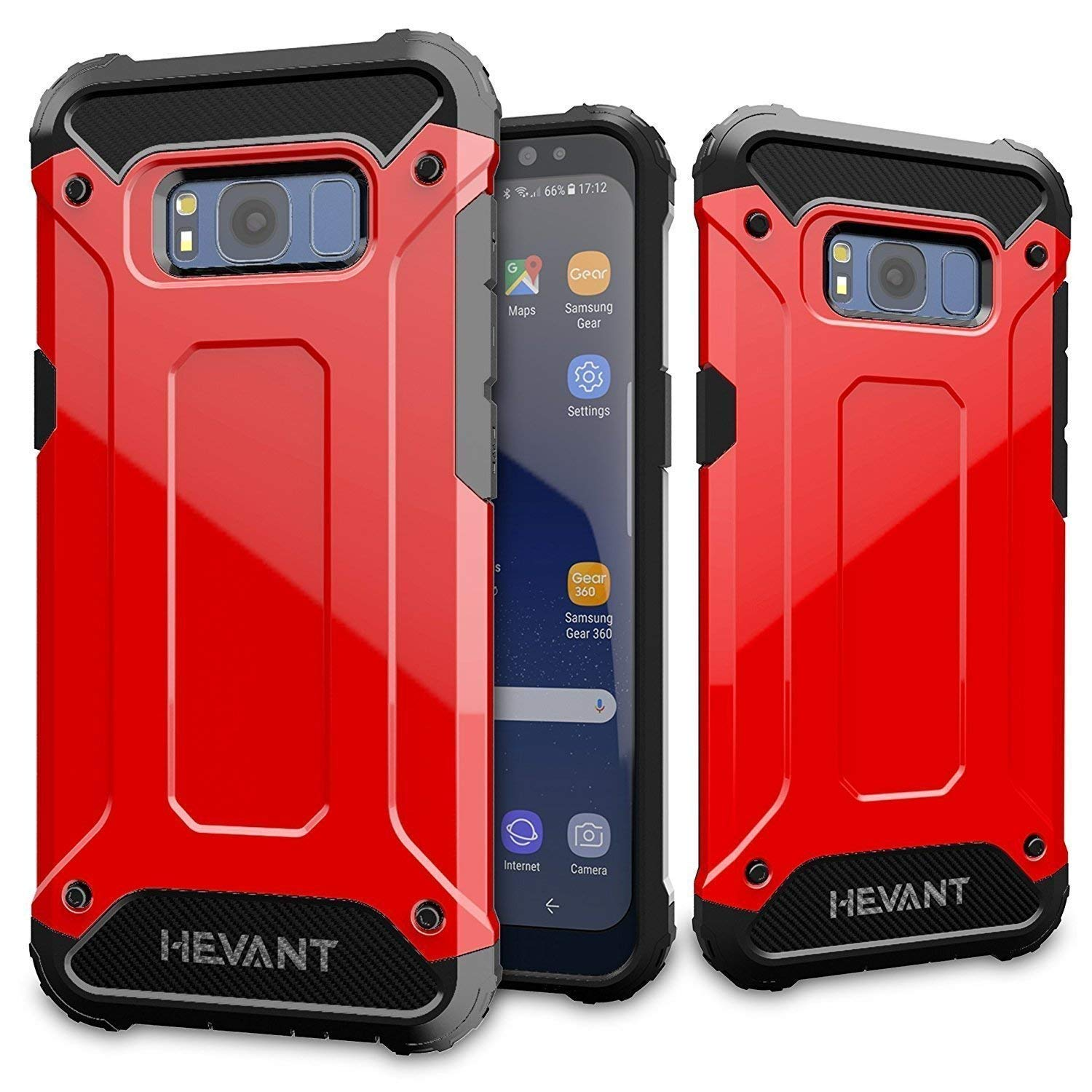 more photos c978a 0a5c6 Galaxy s8 Plus case,Rugged Tough Armor Case for Samsung Galaxy s8 Plus,Anti  Shock case for Galaxy s8 Plus-Red