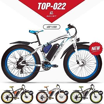 GUOWEI Rich bit RT-022 48V 17AH 1000W Fat Tire Nieve Bicicleta Sin ...