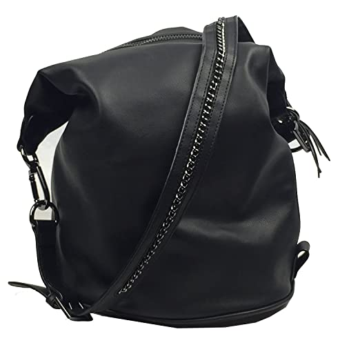 Dolce Vita Convertible Backpack Hobo Black  Amazon.in  Shoes   Handbags 3a1b9e19ee594
