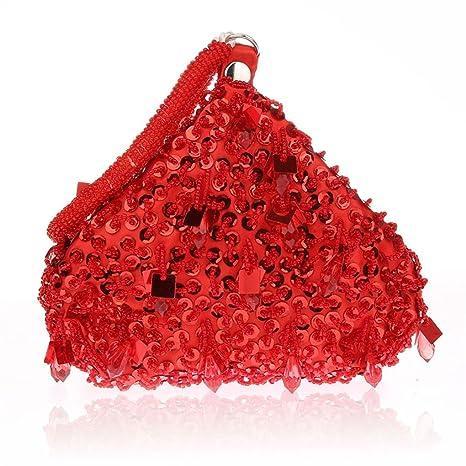Flada - Cartera de mano para mujer rojo Red Medium
