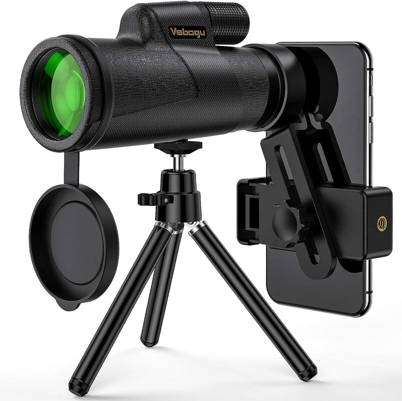 telescopio monoocular Impermeable con una Billetera telef/ónica y un tr/ípode. Telescopio monoocular Gran telescopio de Gran Potencia