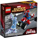 LEGO Super Heroes - Marvel - 76014 - Jeu De Construction - Spider-trike Contre Electro