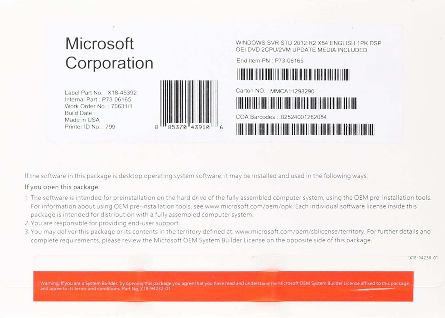 which version of Windows Server 2012 Foundation to buy?