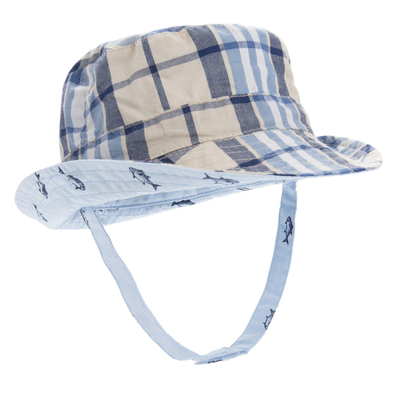 Eriso Baby Toddler Bucket Reversible Sun Protection Animal Hat ((19.7'')12-24 Months, Blue)