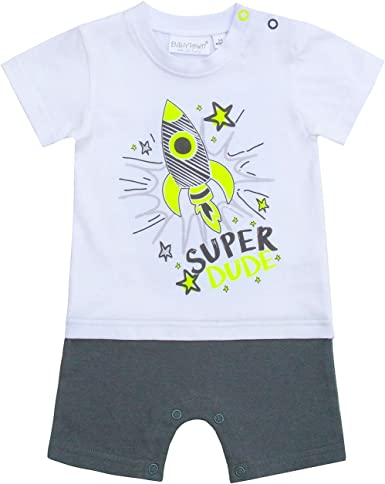 BabyTown Baby Boys Themed Romper Suit