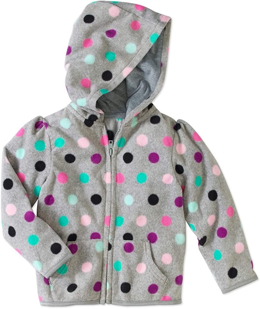 5t Girls Micro Fleece Zipper Hoodie Jacket Sweat Shirt Garanimals 12m